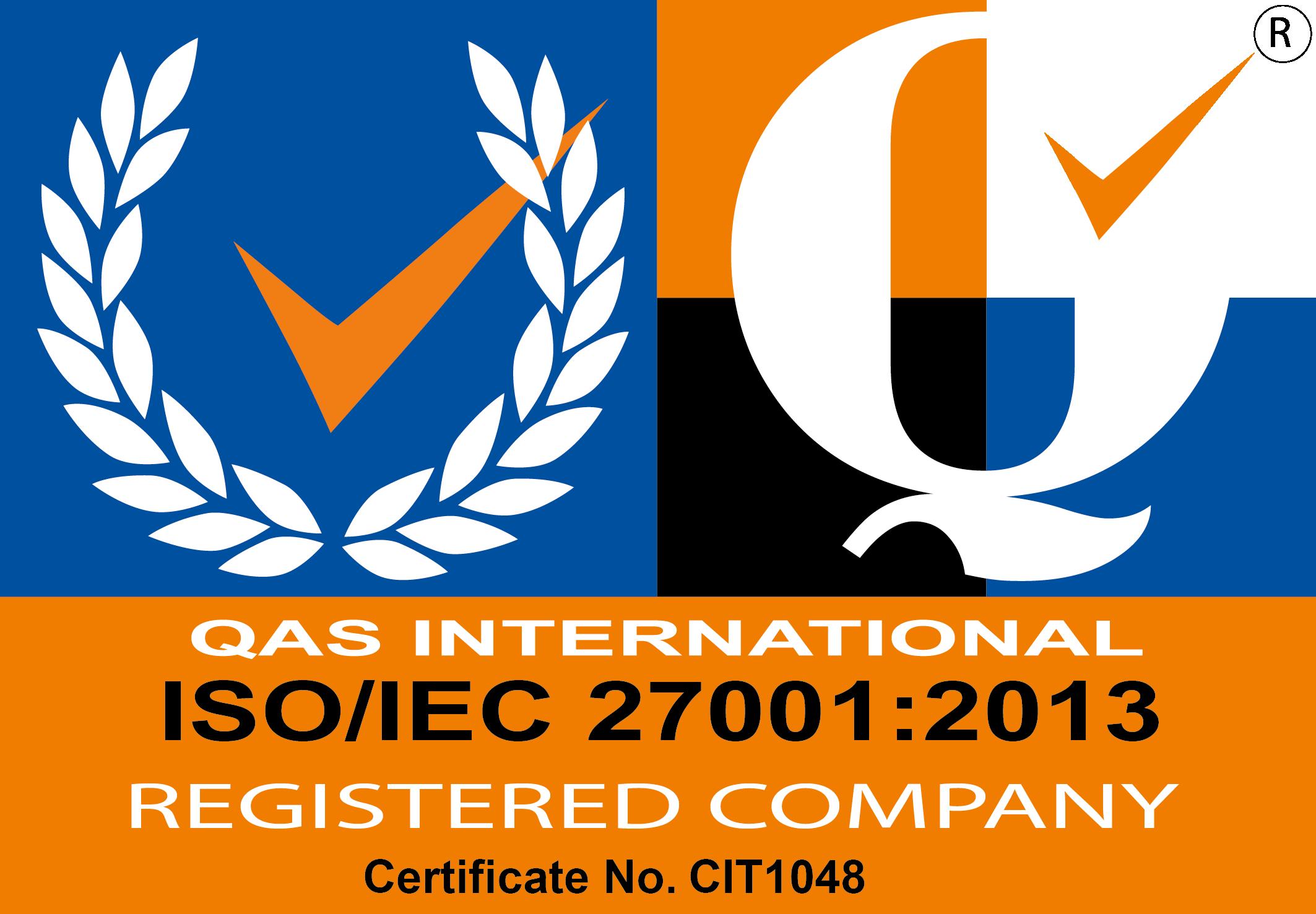 ISO/IEC 27001:2013 Compliance Logo