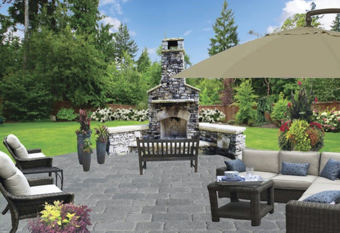 designing a fireplace for outdoor patio