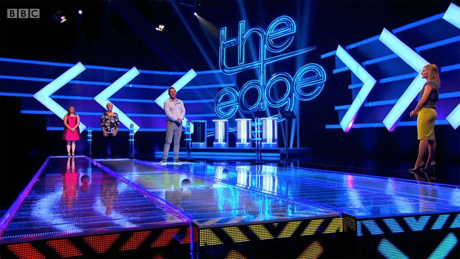 BBC's The Edge studio contestants