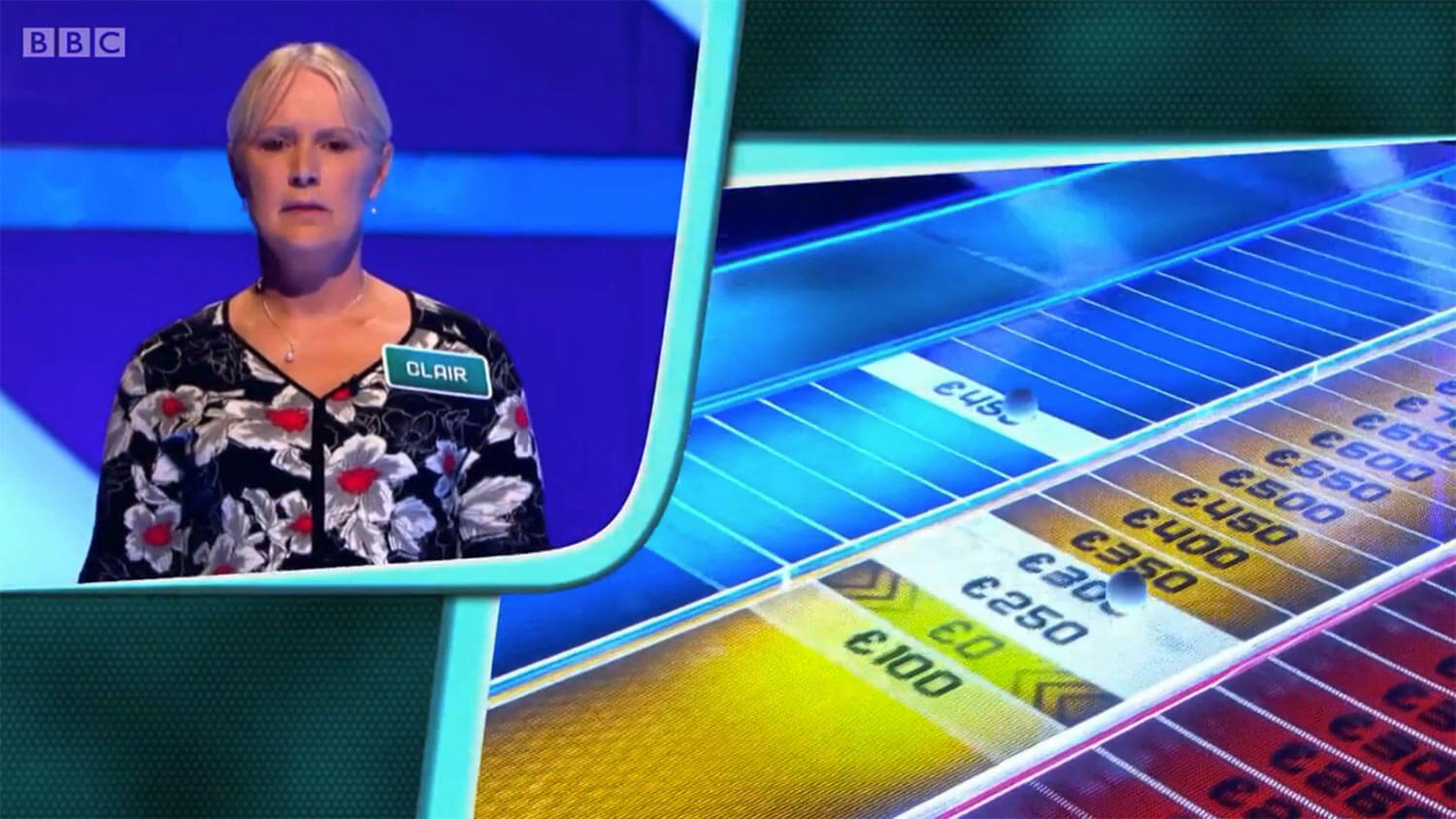 BBC's The Edge studio contestant and ionoco designed laser guided floor graphic screens