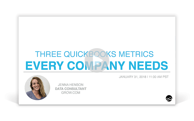 The Three Quickbooks Metrics Every Company Needs