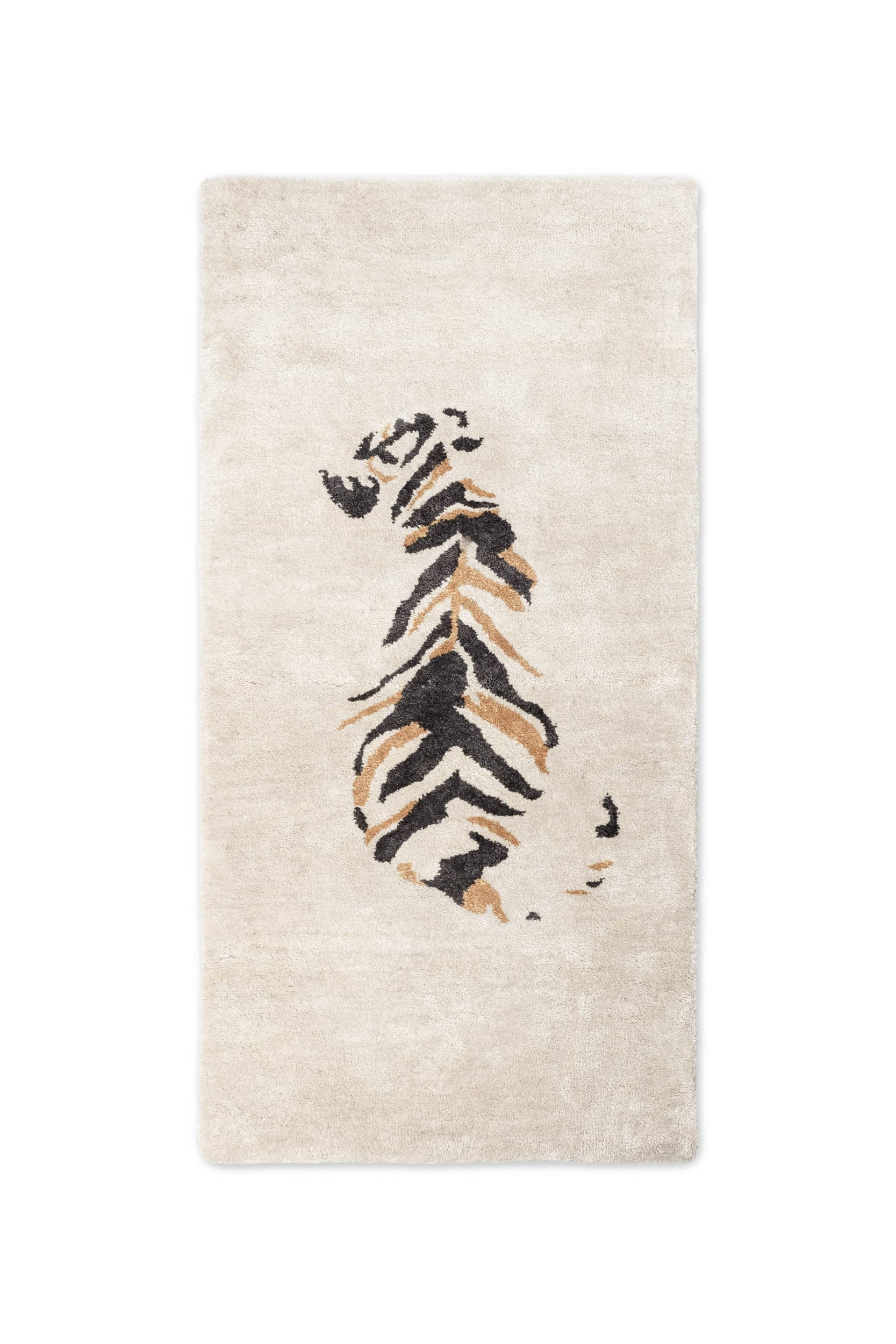 Bamboo Silk Tufted Tiger Rug