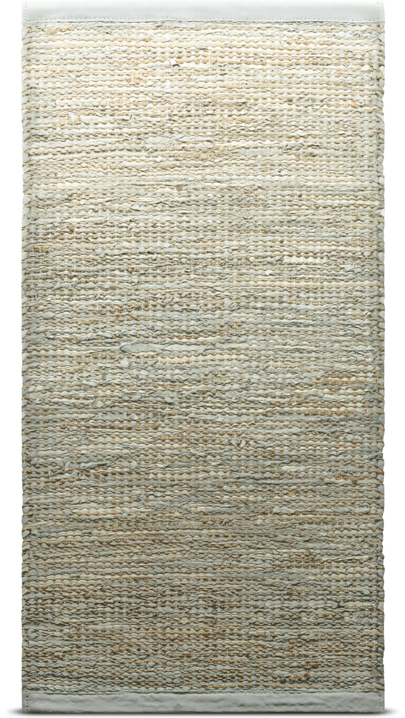 Jute / Leather, Smooth Grey