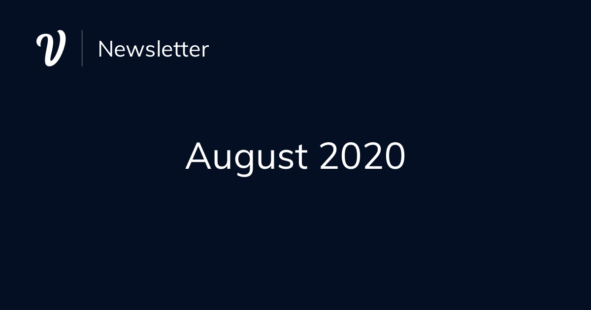August Newsletter (2020)
