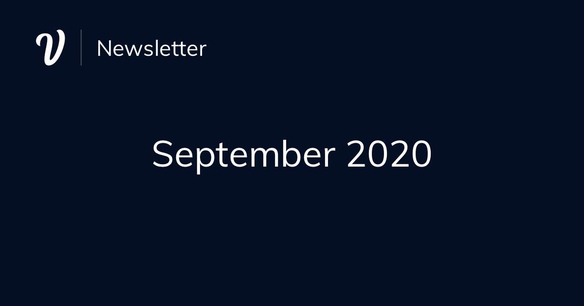 September Newsletter (2020)