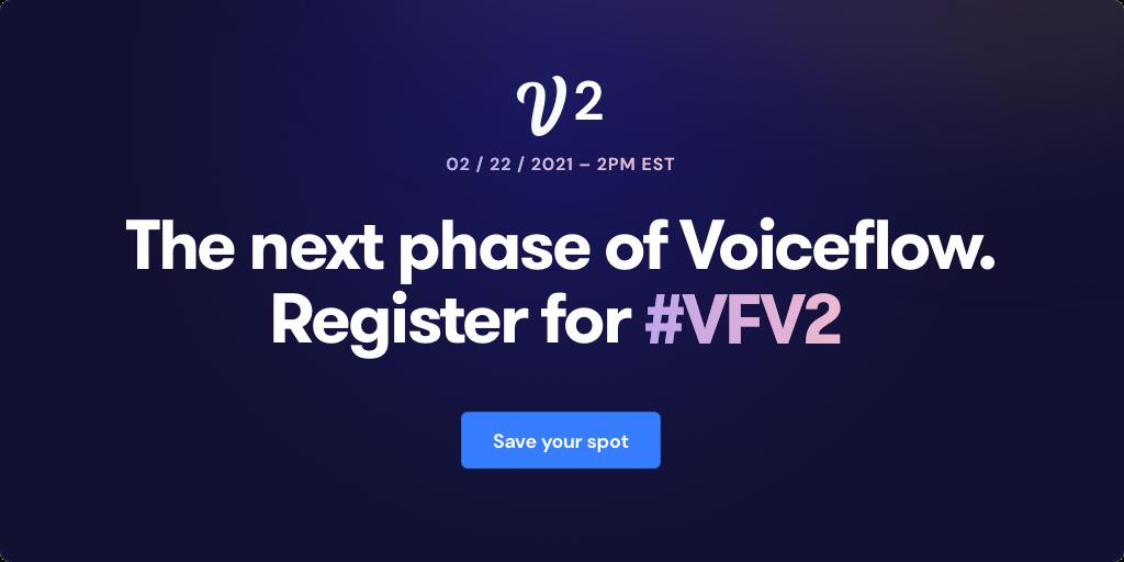 signup for voiceflow v2