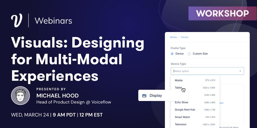 Designing for Multi-Modal Experiences