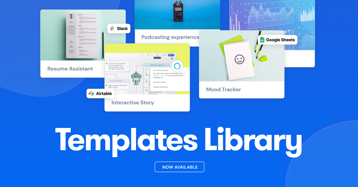 Voiceflow launches new Templates Library