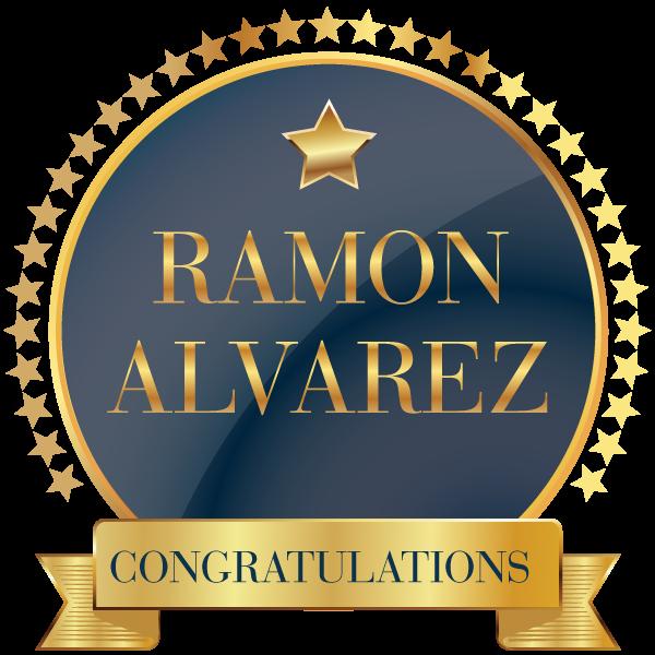 Congratulations Ramon Alvarez