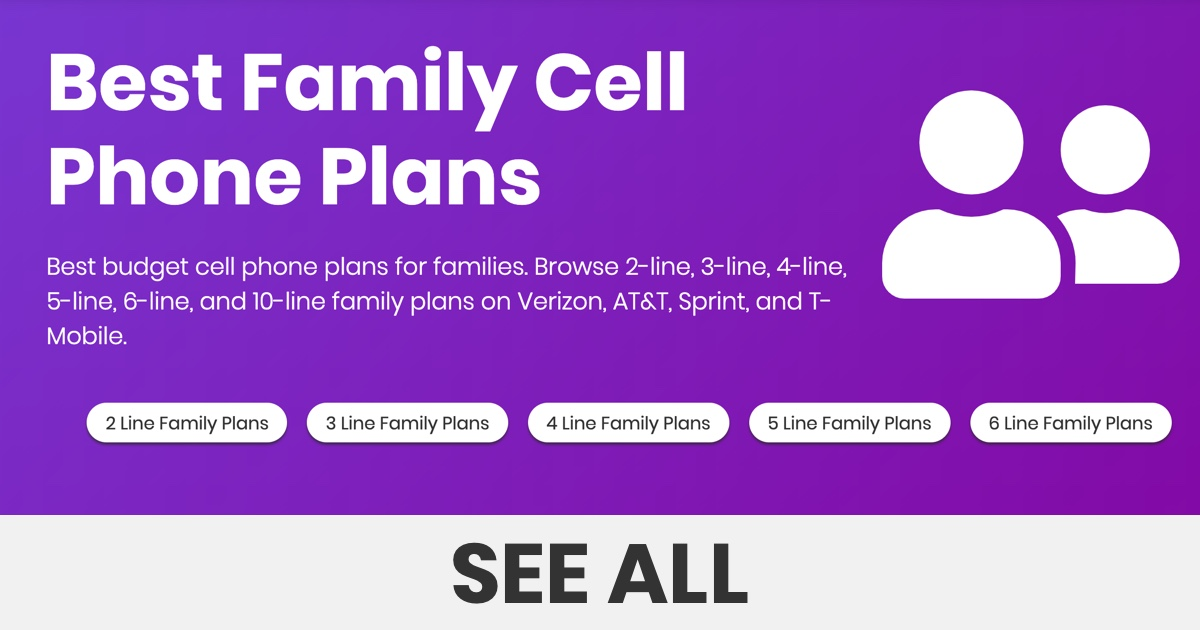 Best Family Cell Phone Plans 2020 For 2 10 Lines Bestphoneplans