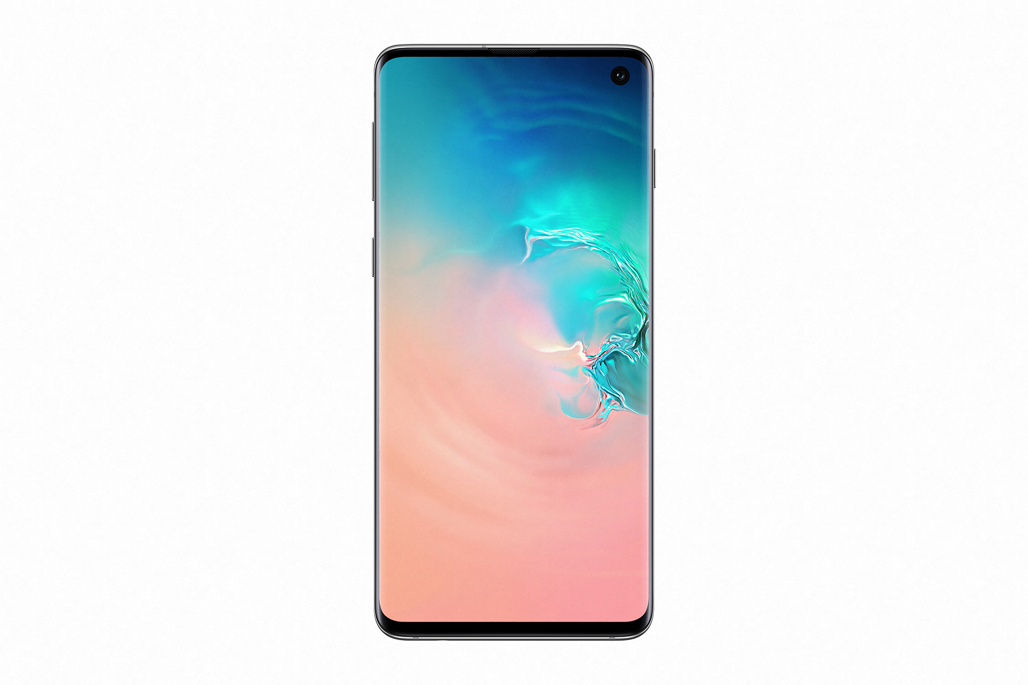 front of Galaxy S10