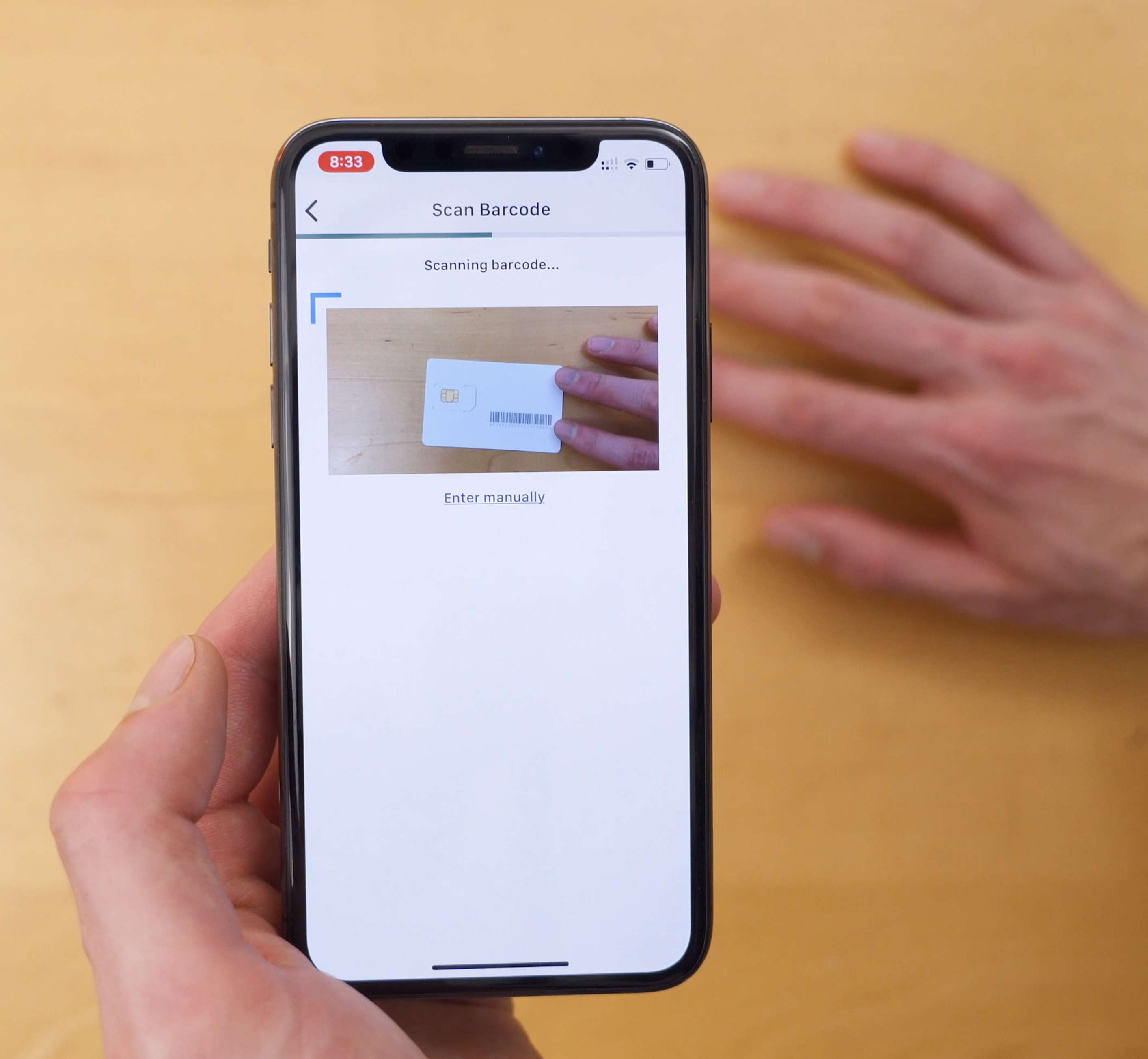 iPhone scanning Reach Mobile SIM card during activation process