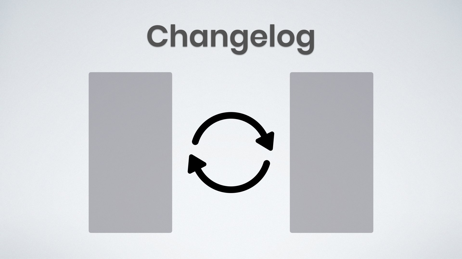 image of text that says changelog with loading graphic