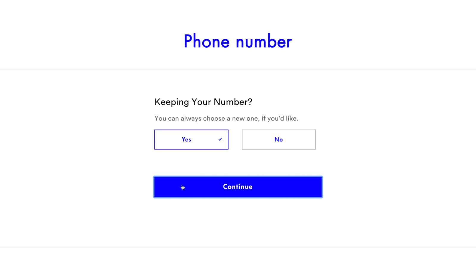 You can transfer your current phone number to Visible or choose to get a new one