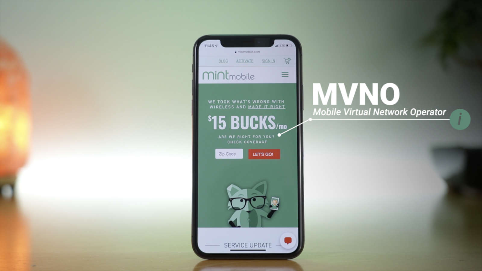 mint mobile is an MVNO that uses T-Mobile for coverage