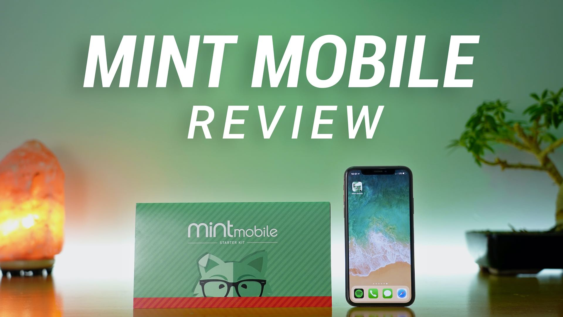 mint mobile sim starter kit next to iphone
