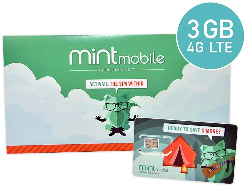 Mint Mobile 3GB, 3-Month SIM Kit