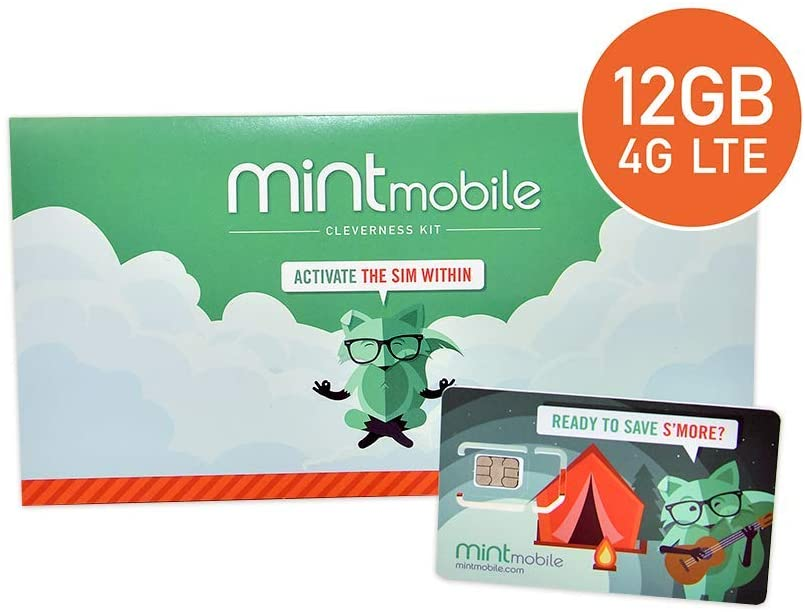 Mint Mobile 12GB, 3-Month SIM Kit