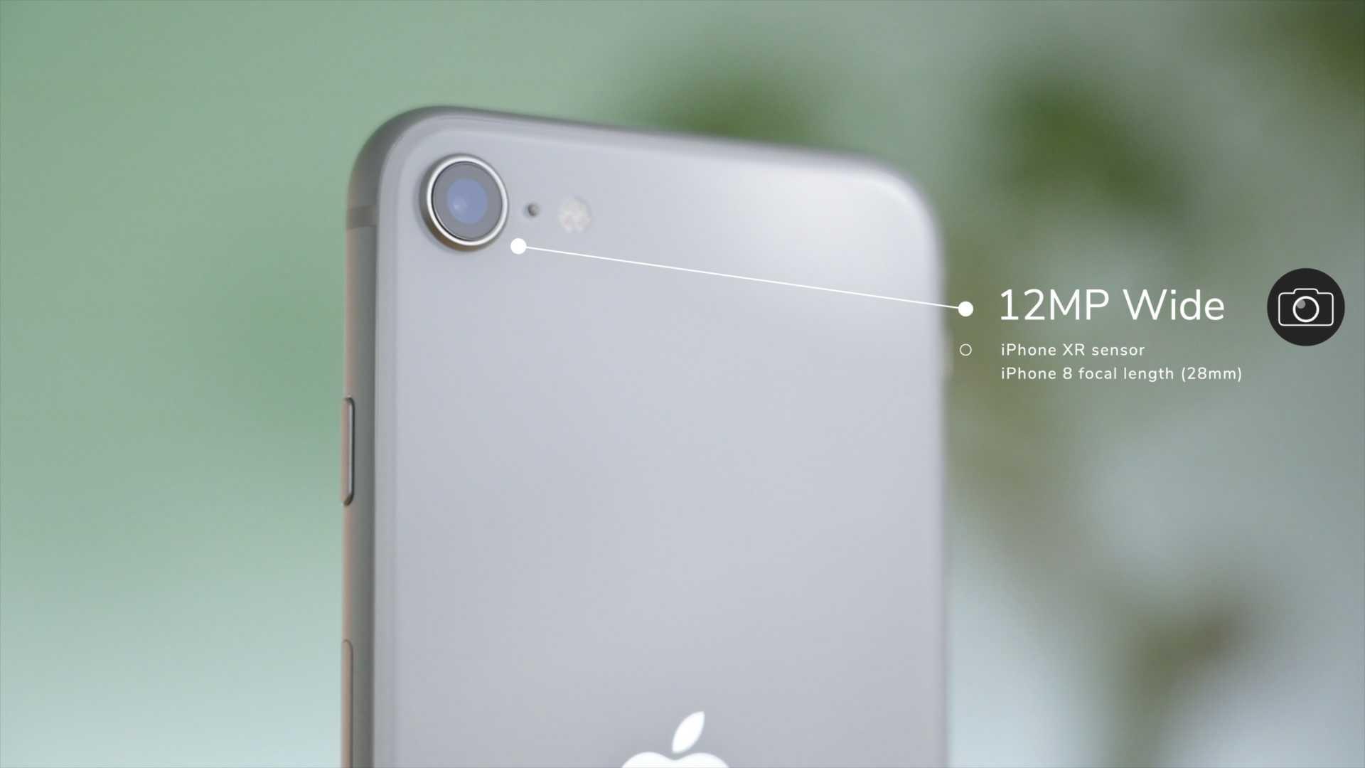 iPhone SE uses the same camera sensor as the iPhone XR with the same focal length as the iPhone 8
