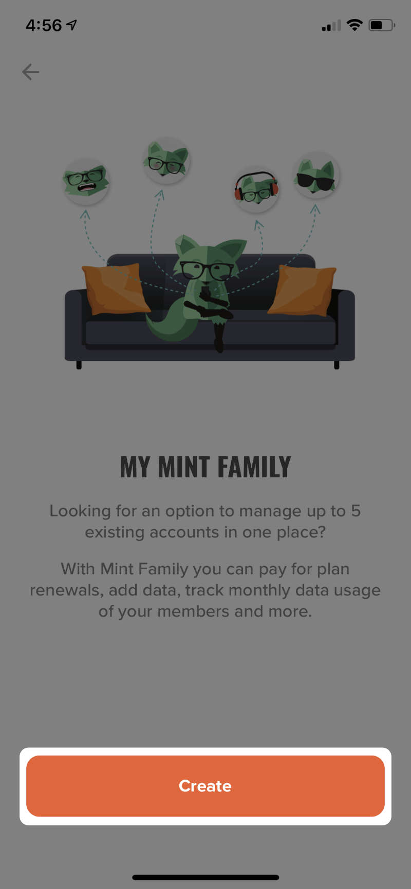 create mint family button