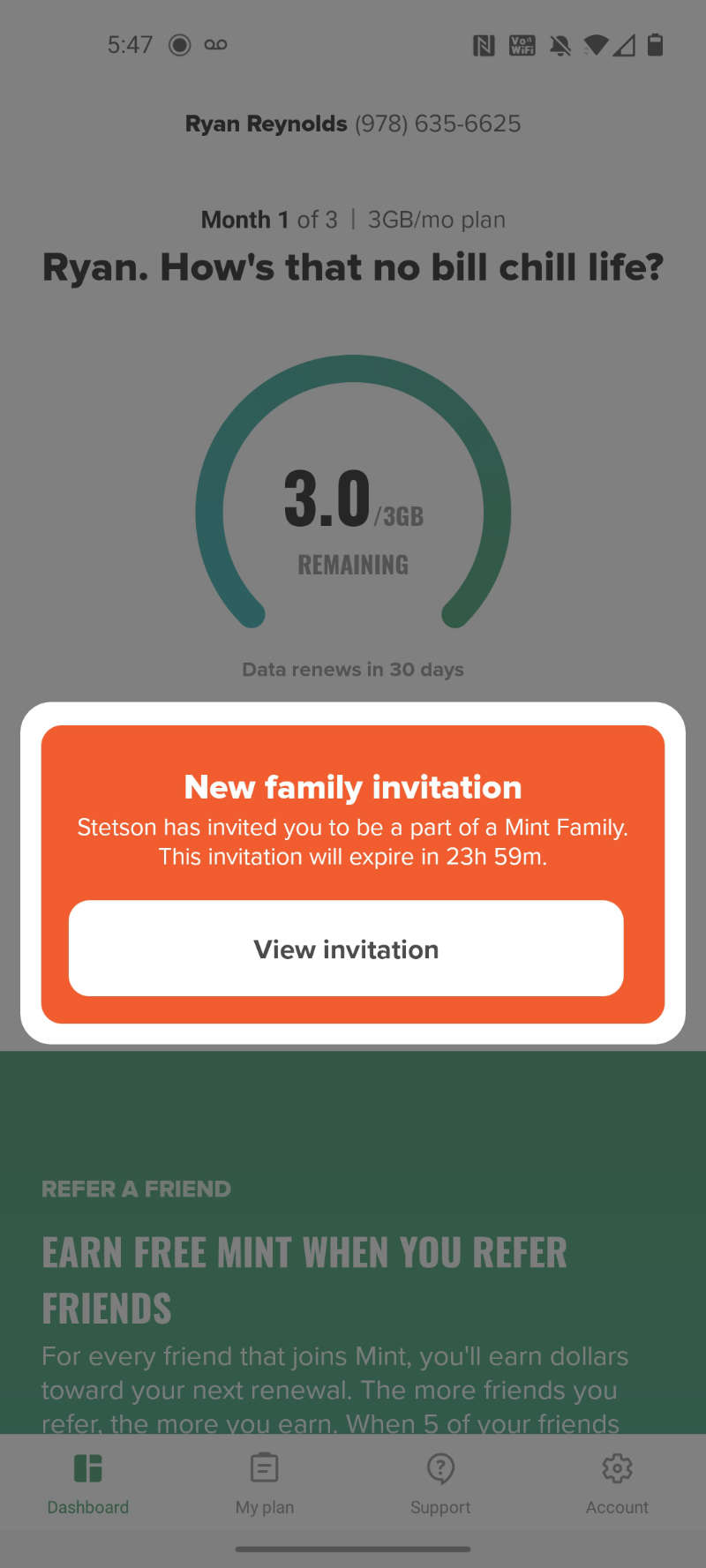 Mint Family invitation