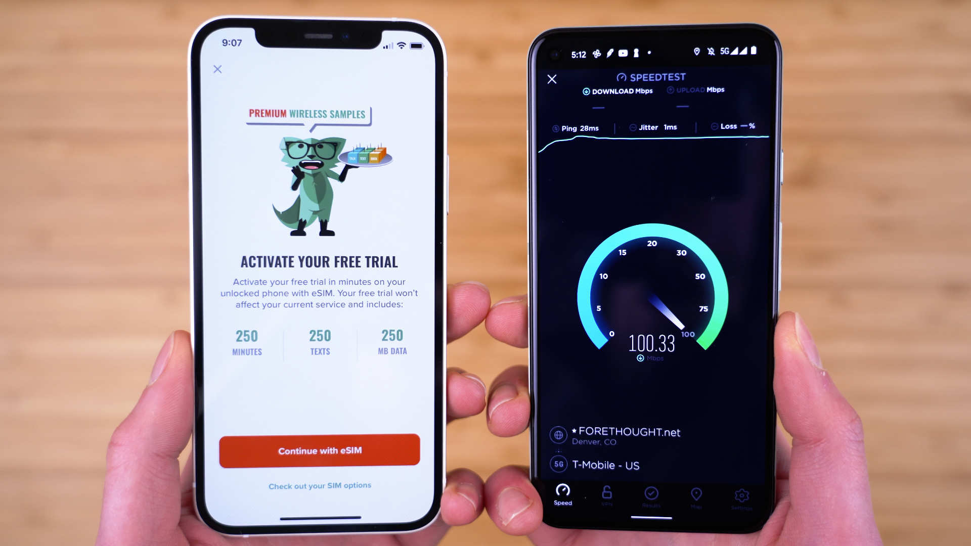 mint mobile free trial on iPhone and Android phone