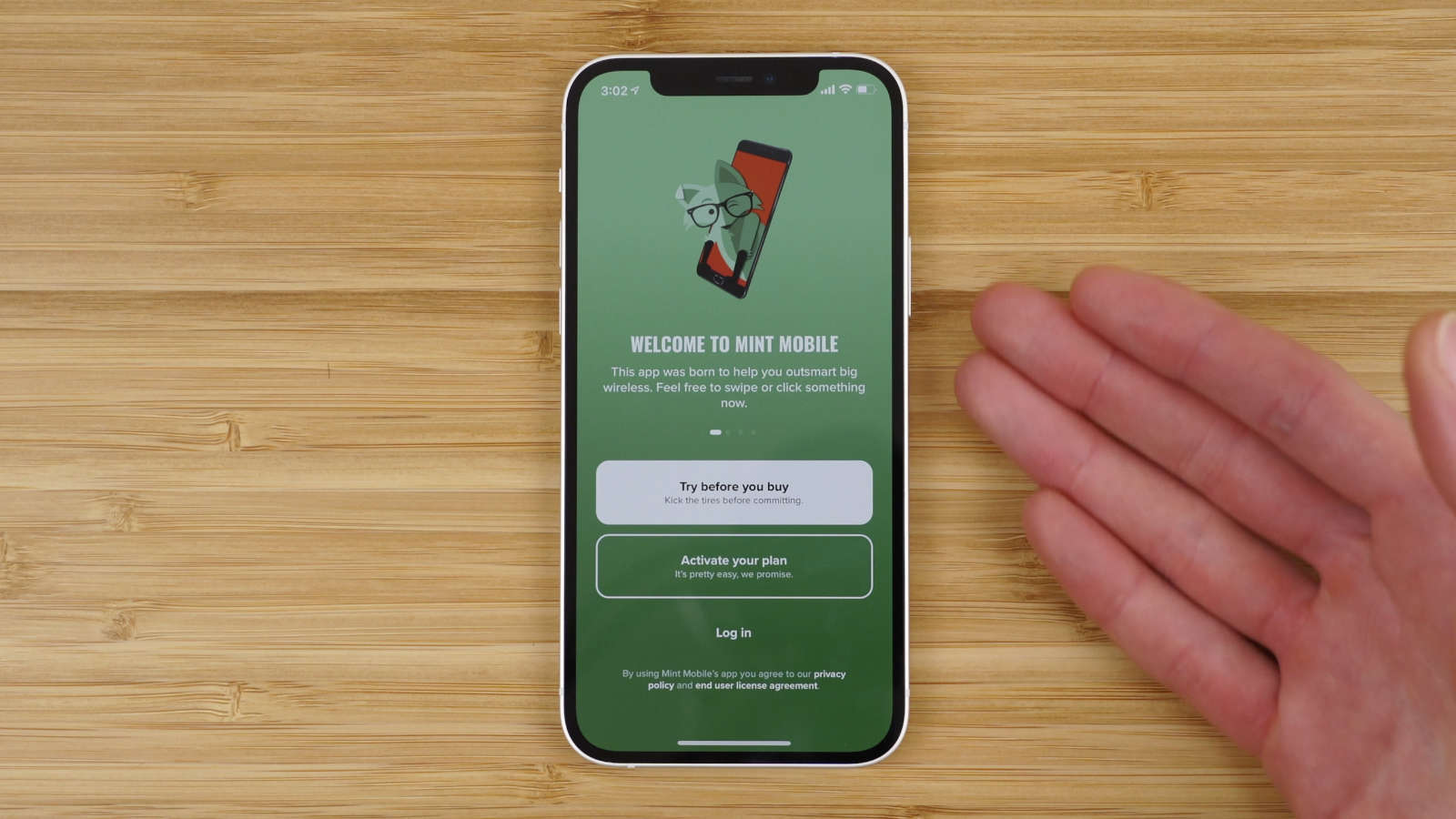 Mint Mobile application launch screen