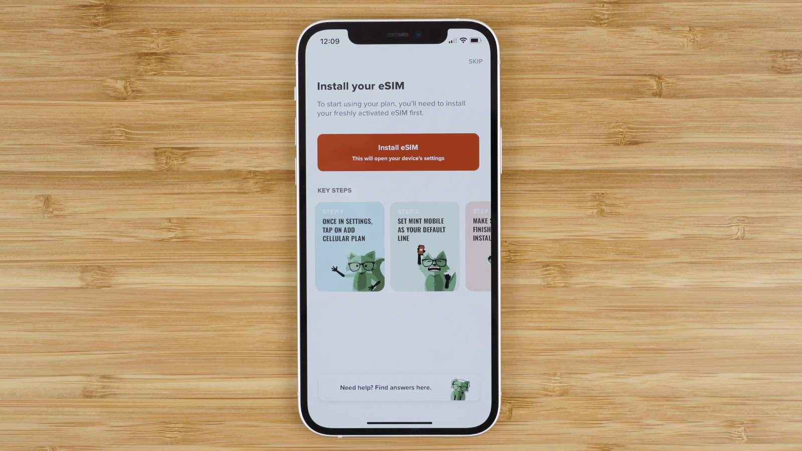 install Mint Mobile eSIM