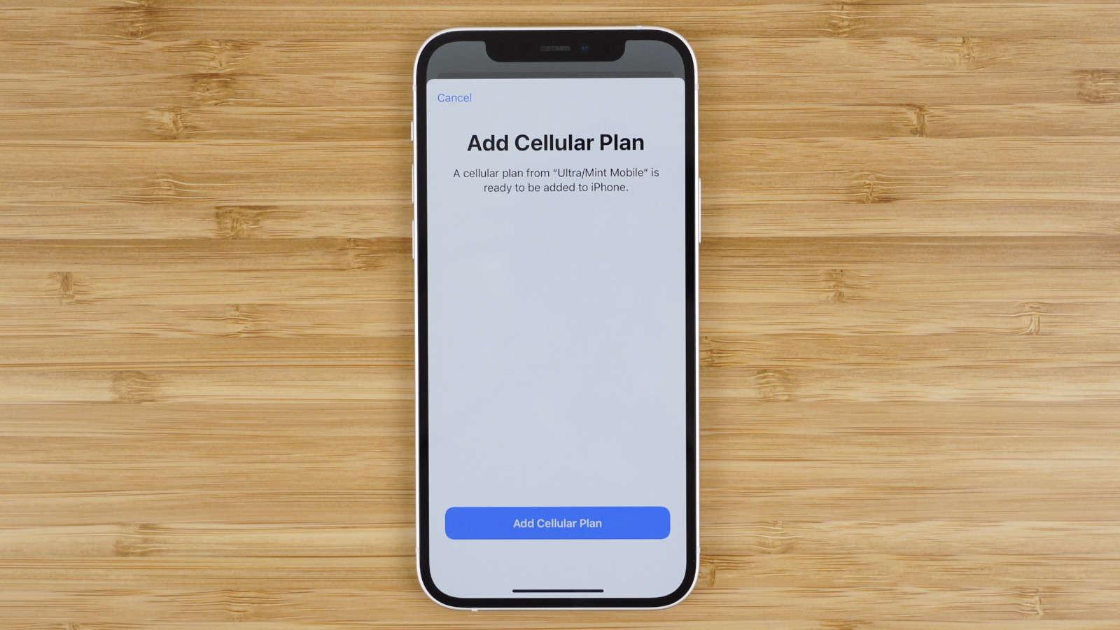 add cellular plan using eSIM on iPhone