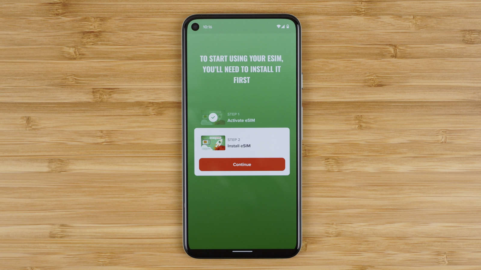install Mint Mobile eSIM on Pixel 5