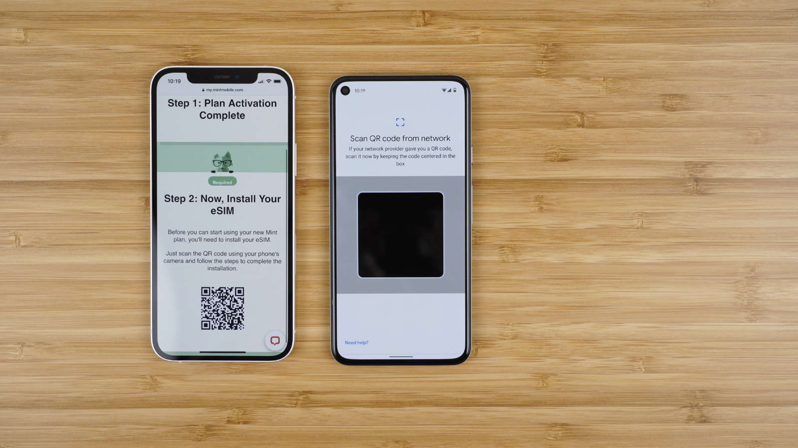 Scan the QR code sent to your email to activate your service.