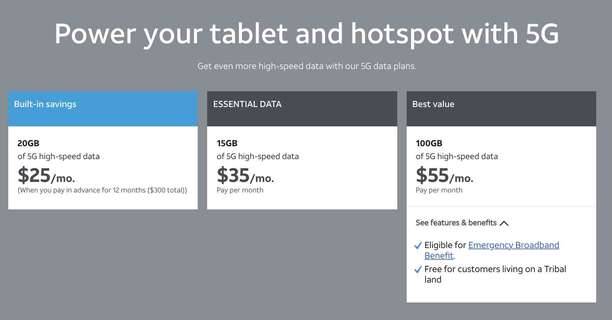 AT&T's Prepaid Data Plans