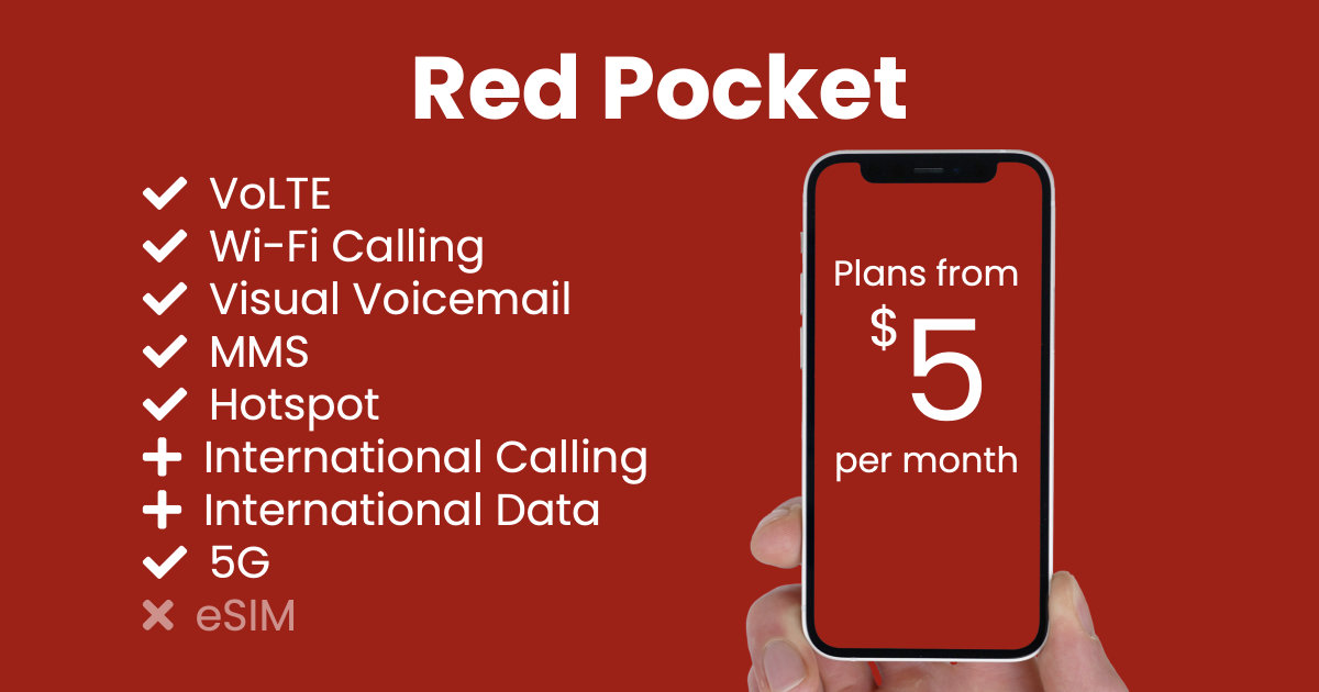 Red Pocket plan features and starting price