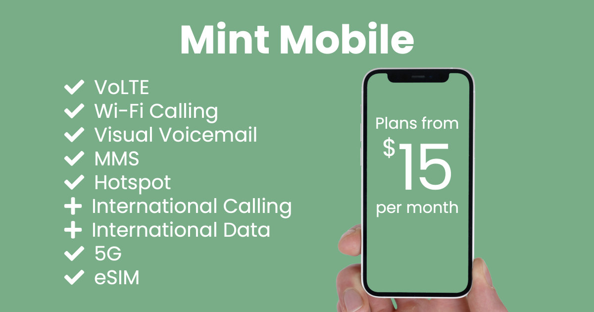 Mint Mobile plan features and starting price