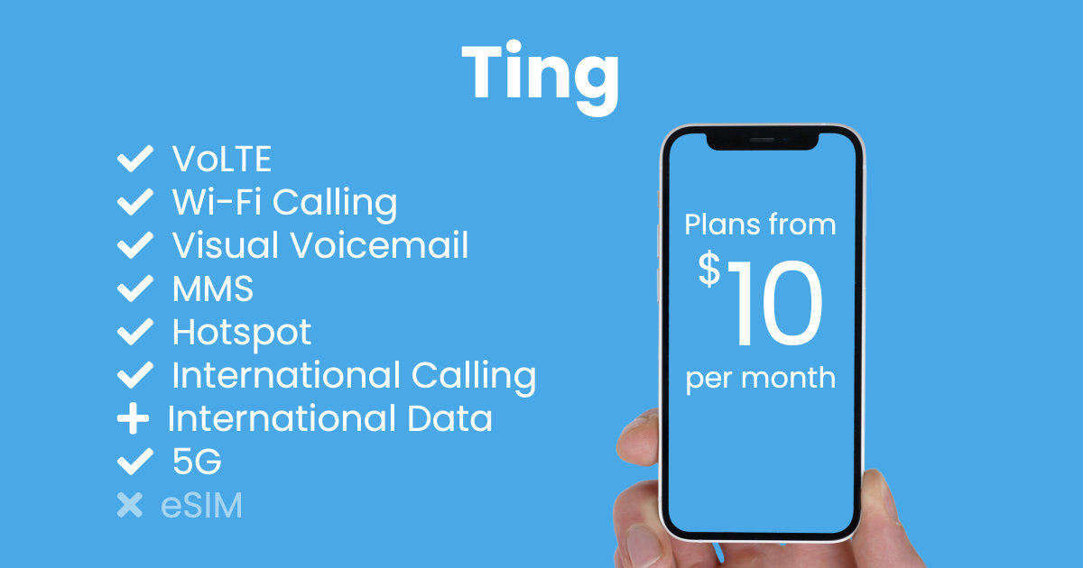 Ting plan features and starting price