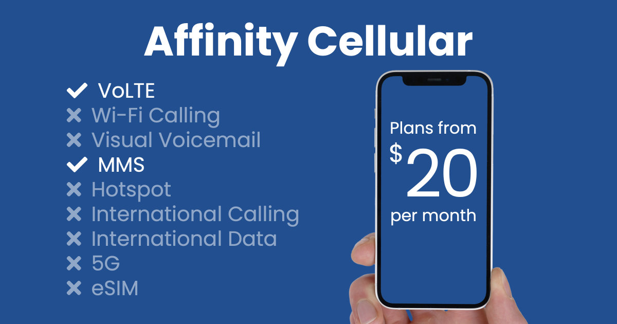 Affinity Cellular plan features and starting price