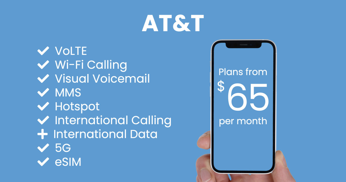 AT&T plan features and starting price