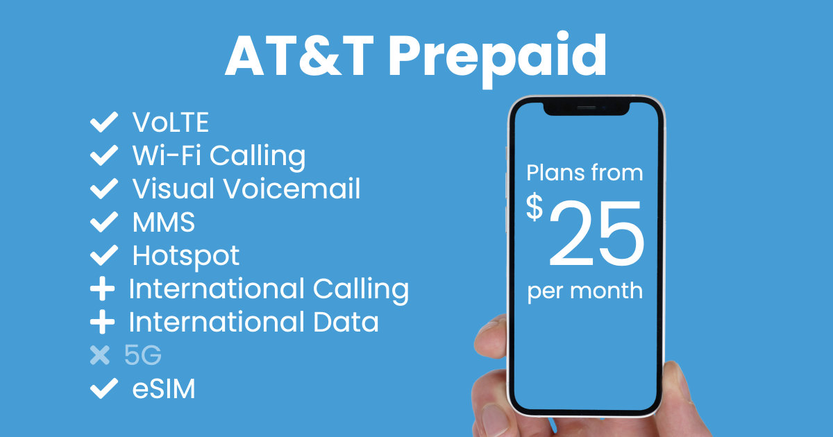 AT&T Prepaid plan features and starting price