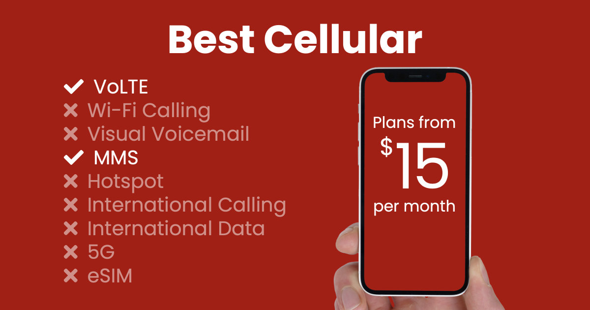 Best Cellular plan features and starting price