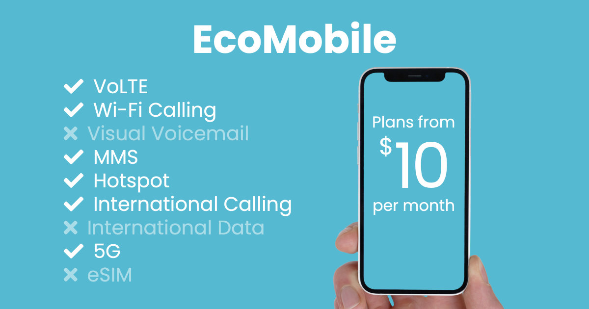 EcoMobile plan features and starting price