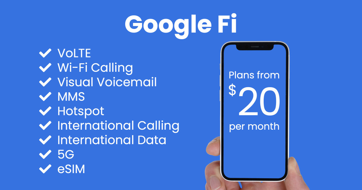 Google Fi plan features and starting price