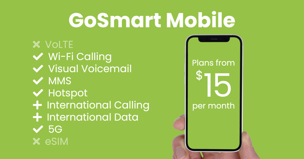 GoSmart Mobile plan features and starting price