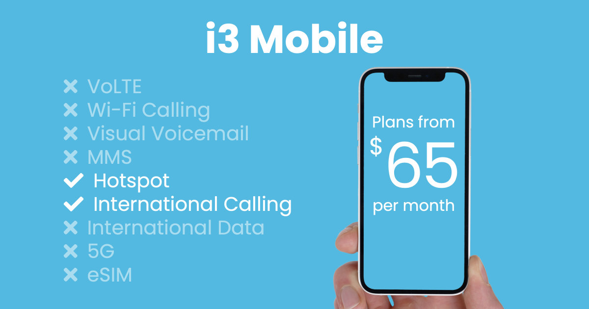 i3 Mobile plan features and starting price