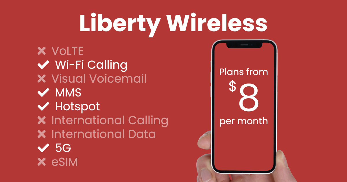 Liberty Wireless plan features and starting price