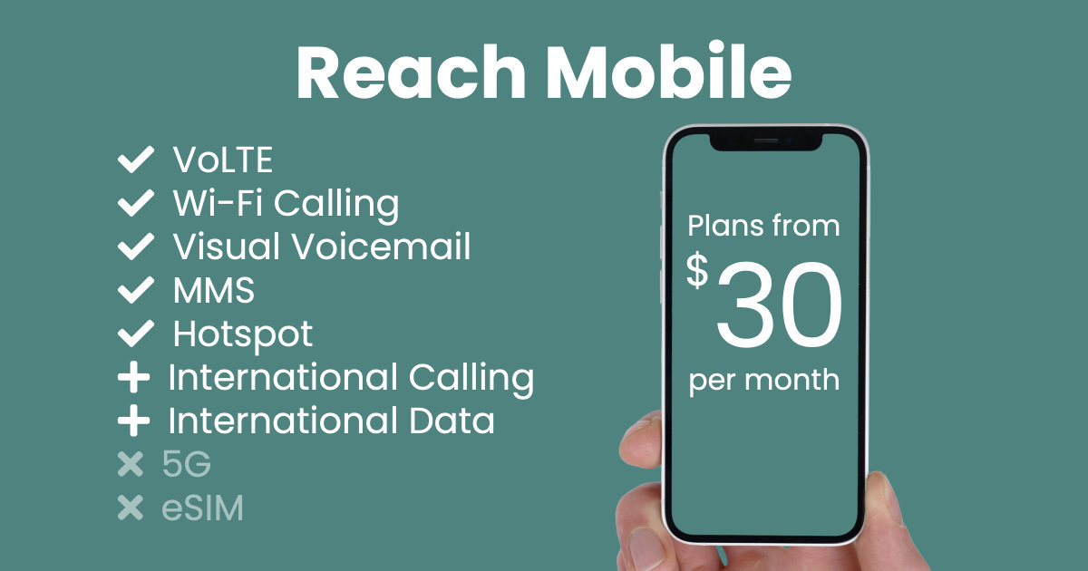 Reach Mobile plan features and starting price
