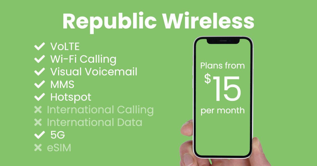 Republic Wireless plan features and starting price