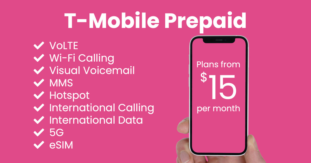 T-Mobile Prepaid plan features and starting price