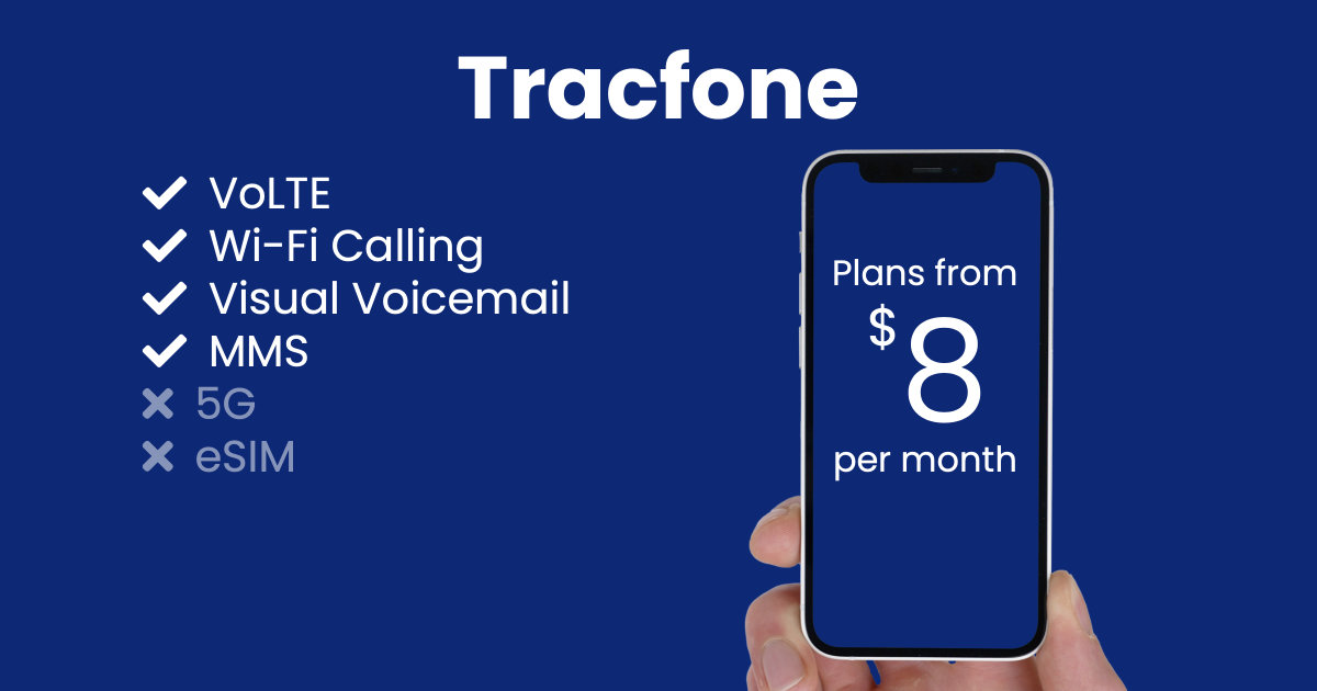 Tracfone plan features and starting price