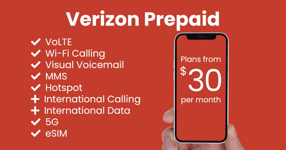 Verizon Prepaid plan features and starting price