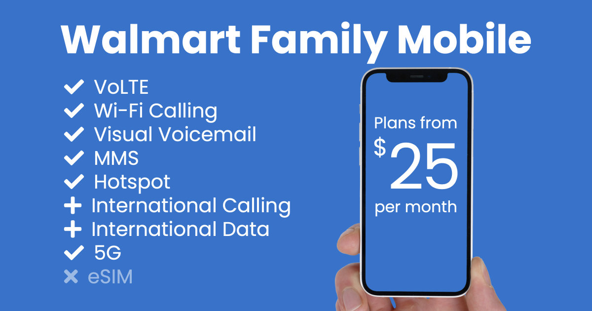 Walmart Family Mobile plan features and starting price